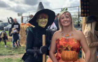 Witch and Pumpkin Princess at Farmer Copleys