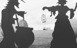 Witches silhouette at Farmer Copleys Pumpkin Festival