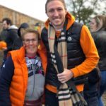 Leeds United star Luke Ayling at Farmer Copleys Pumpkin Festival.
