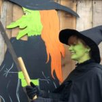 Green witch at Farmer Copleys pumpkin festival