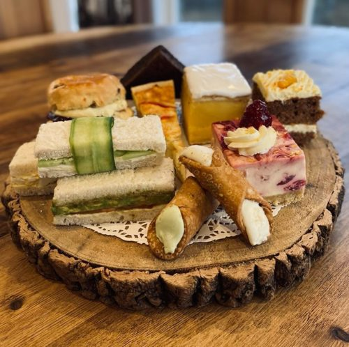 Vegetarian treats on Farmer Copleys Afternoon Tea