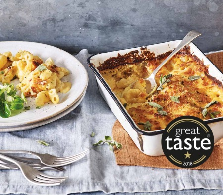 COOK Macaroni Cheese in a dish, available at Farmer Copleys Farm Shop