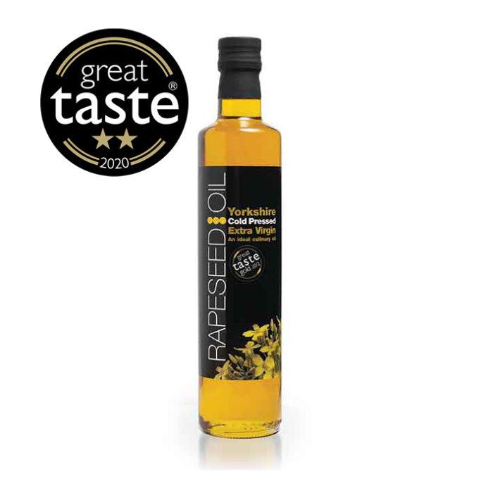 Yorkshire Rapeseed Oil Bottle with Great Taste Award Winner logo